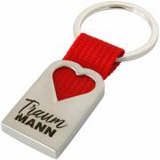 Traum Mann Schlüsselanhänger Herz aus Metall Traummann