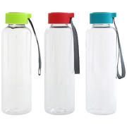 Trinkflasche CLEAR 500 ml mit Gravur Logo Werbung