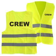 Warnweste CREW Sicherheitsweste mit Druck auf Rücken und Brust