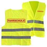 Warnweste FAHRSCHULE Sicherheitsweste mit Druck auf Rücken und Brust