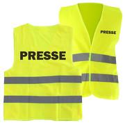 Warnweste PRESSE Sicherheitsweste mit Druck auf Rücken und Brust