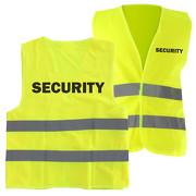 Warnweste SECURITY Sicherheitsweste mit Druck auf Rücken und Brust