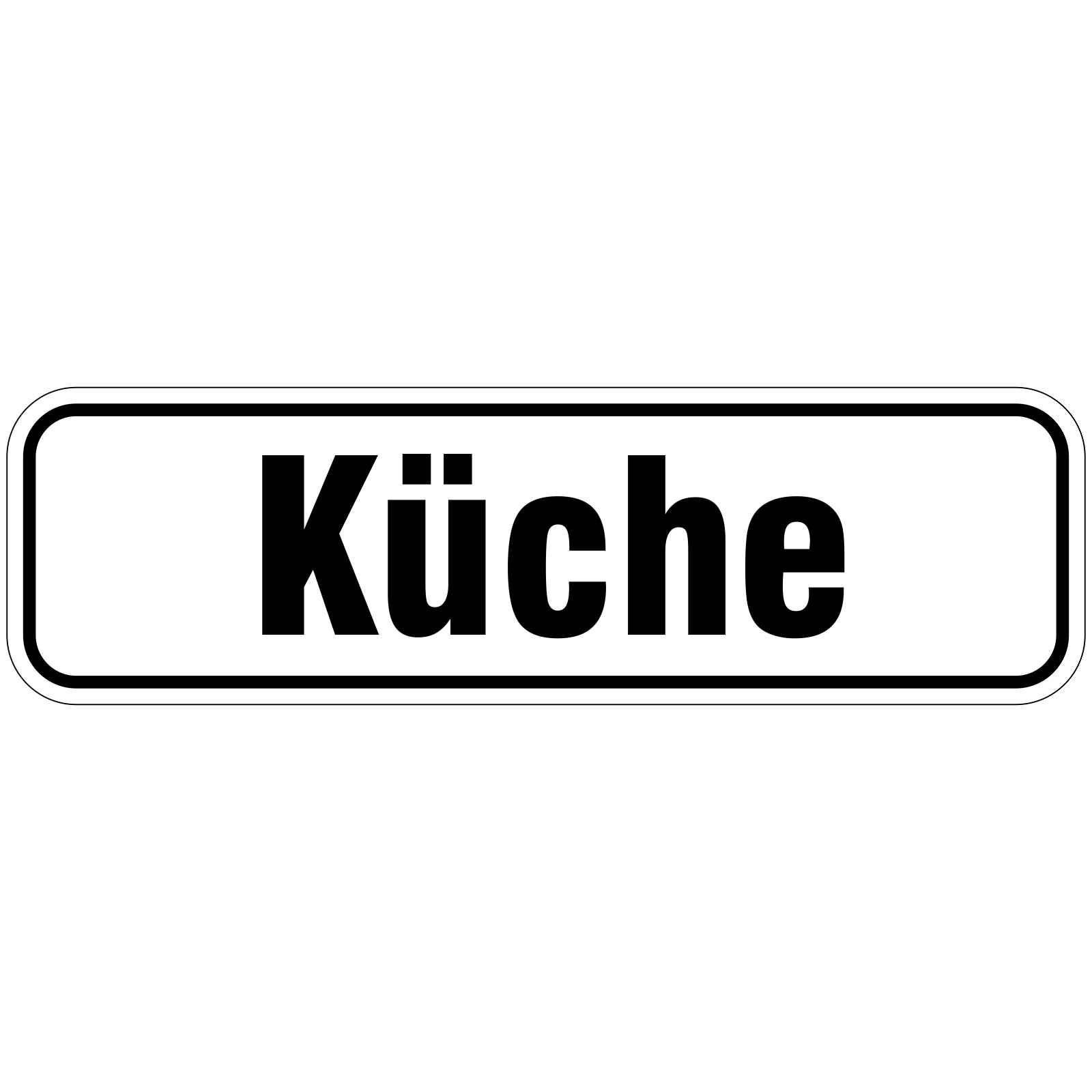 Küche Türbeschriftung als Aufkleber oder Schild 10 x 10 cm