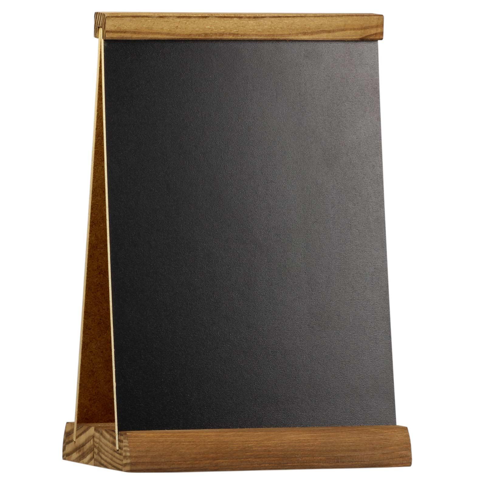 kreidetafel edinburgh a5 a4 beidseitig werbetafel holztafel tischaufsteller holz ebay. Black Bedroom Furniture Sets. Home Design Ideas