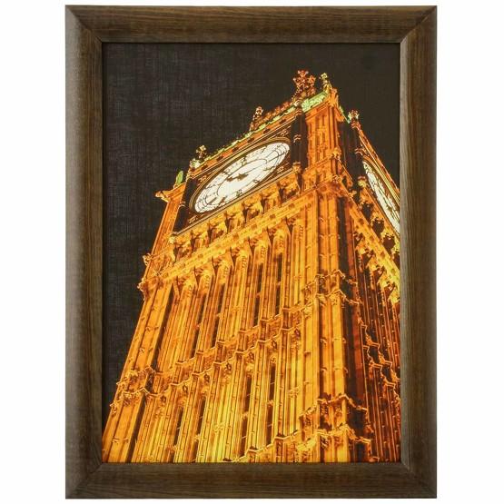 Ihr Foto Bild im Echtholz Rahmen Druck auf Canvasplatte 30x40 cm