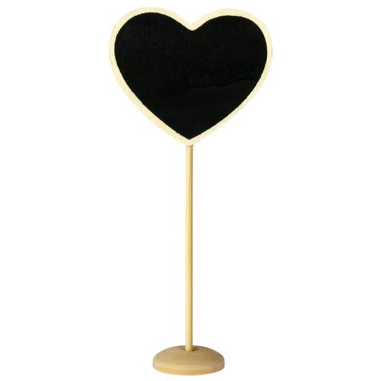 Mini Blackboard Hearts auf Ständer Kreidetafel Herz