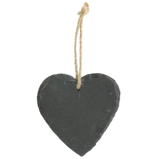 Schieferherz mit Kordel zum aufhängen beschreibbar mit Kreide Herz Schiefer