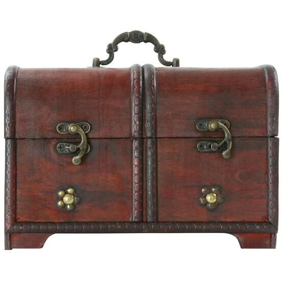 Set mit 3 klassischen antiken Koffern Truhen Boxen