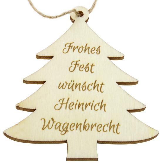 Anhänger Holz Baum Tannenbaum Weihnachten mit Gravur