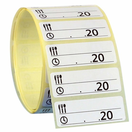 Gefrieretiketten selbstklebend ablösbar 50x13 mm Tiefkühletiketten