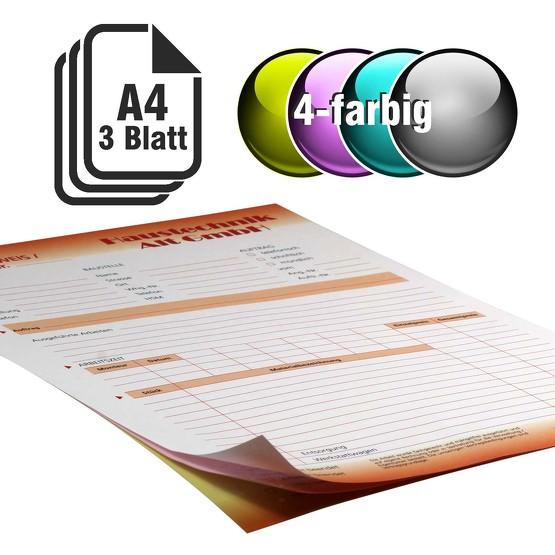 Durchschreibesätze 4-farbig A4 2-fach durchschreibend