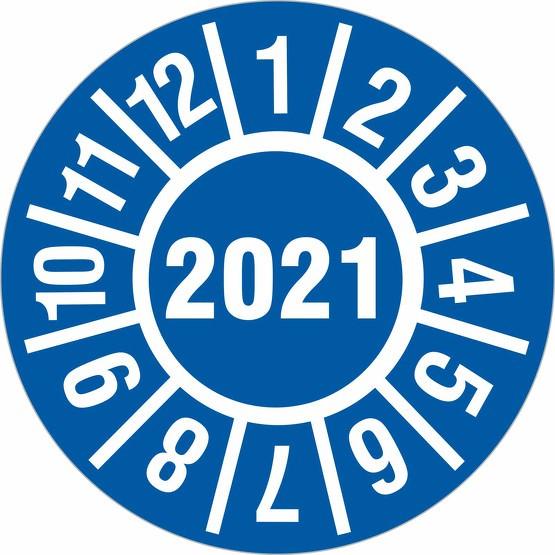Prüfplakette 2021 Jahresprüfplakette Jahresprüfetiketten 18 oder 30 mm
