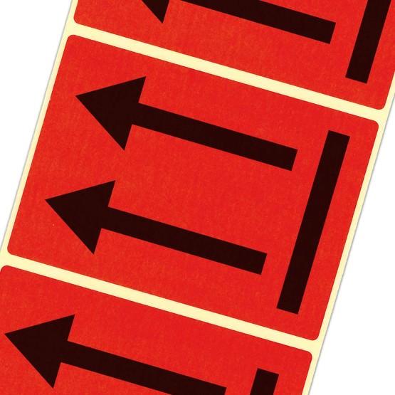 Etiketten Ausrichtungspfeile / hier oben LQ GHS UN Pfeile Haftpapier 105 x 75 mm leuchtend rot
