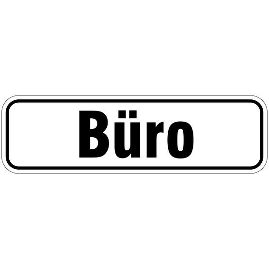 """""""Büro"""" Türbeschriftung als Aufkleber/Schild 17 x 5 cm"""