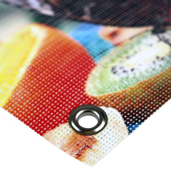 Mesh PVC Banner Netzbanner B1 zertifiziert mit Ösen selbst kalkulieren