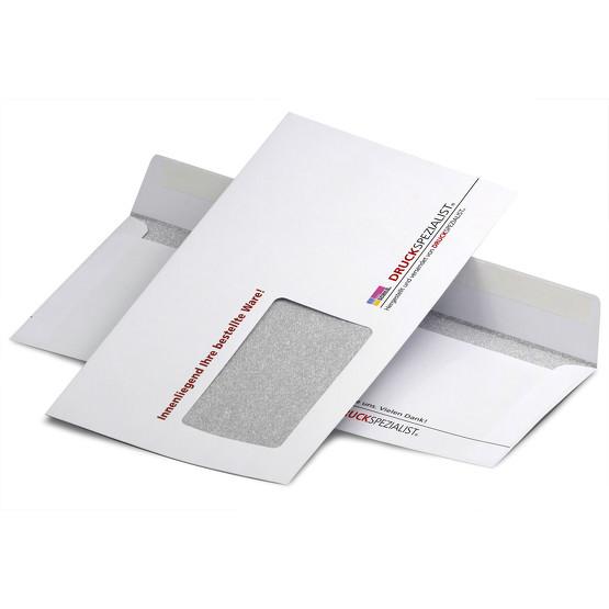 Briefumschläge DIN Lang 4/0-farbig mit Fenster