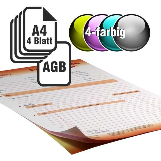 Durchschreibesätze 4/1-farbig A4 3-fach durchschreibend mit Rückseitendruck