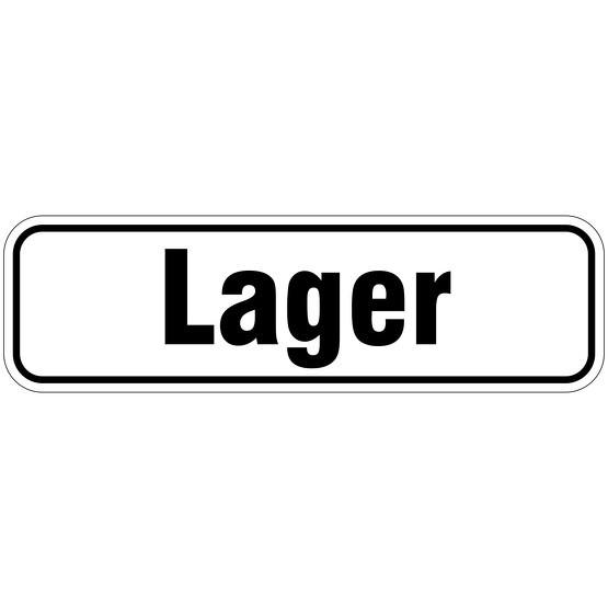 """Lager"" Türbeschriftung als Aufkleber/Schild 17 x 5 cm"