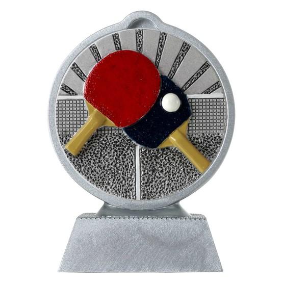 Pokal mit 3D Motiv Tischtennis Serie Ronny 10,5 cm hoch