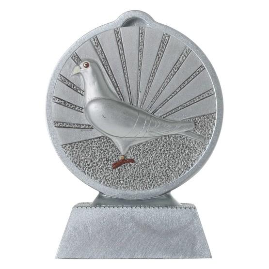 Pokal mit 3D Motiv Tauben Zuchttauben Taubenzucht Serie Ronny 10,5 cm hoch