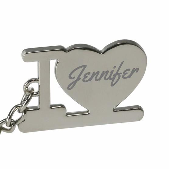 Schlüsselanhänger I love ich liebe Dich mit Gravur personalisiert