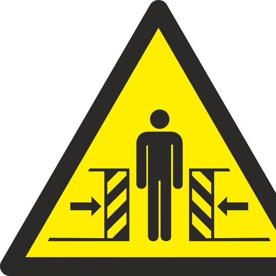 Schild Warnung vor Quetschgefahr W019