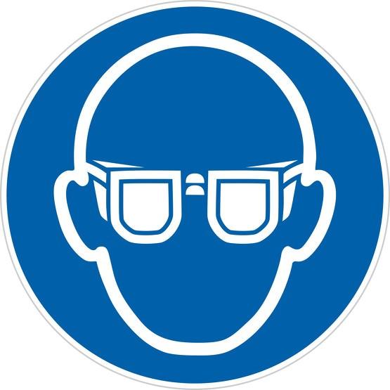 Schild Augenschutz benutzen M004