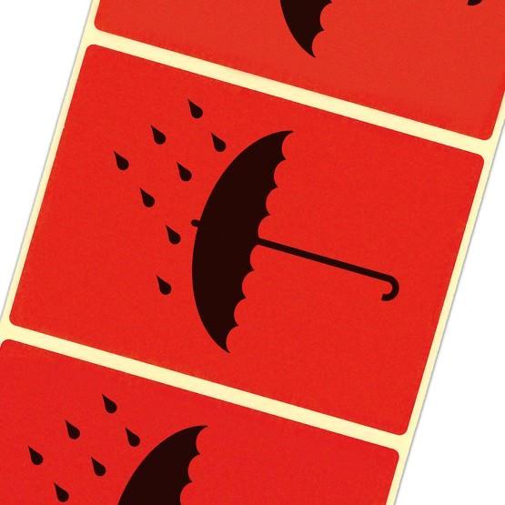 Vor Nässe schützen Etiketten Versandetiketten Paketaufkleber Haftpapier 105 x 72 mm leuchtend rot
