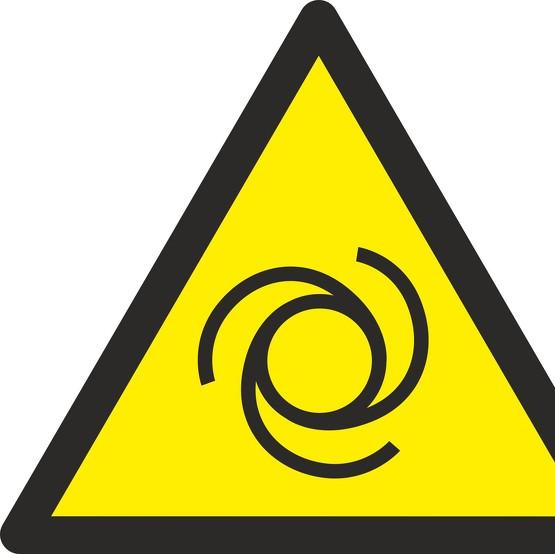 Aufkleber Warnung vor automatischem Anlauf W018