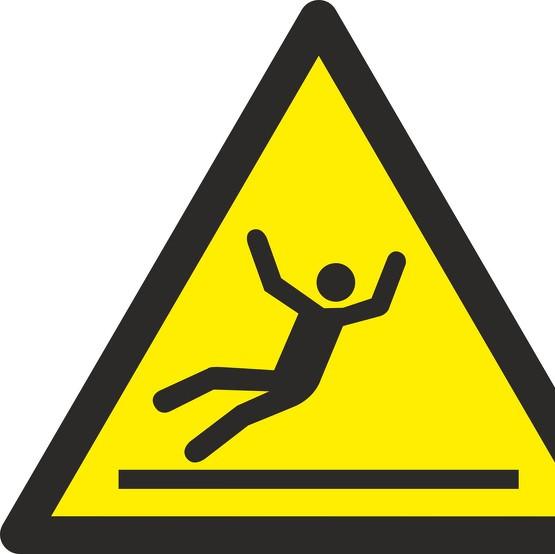 Aufkleber oder Schild Warnung vor Rutschgefahr W011