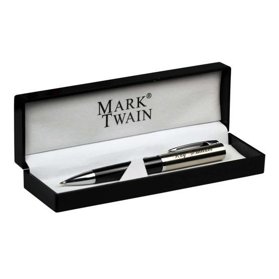 Kugelschreiber Mark Twain Chrissy Metall mit Gravur Namen