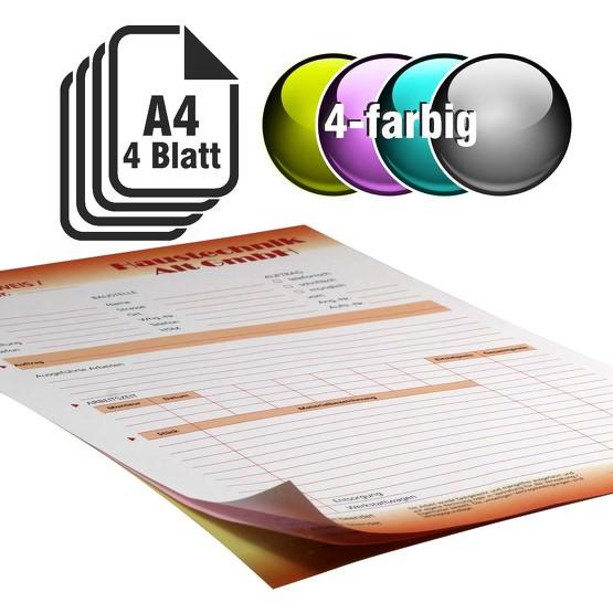 Durchschreibesätze 4-farbig A4 3-fach durchschreibend
