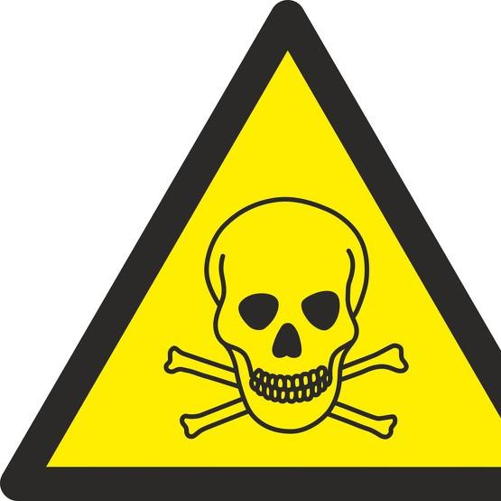 Schild Warnung vor giftigen Stoffen W016