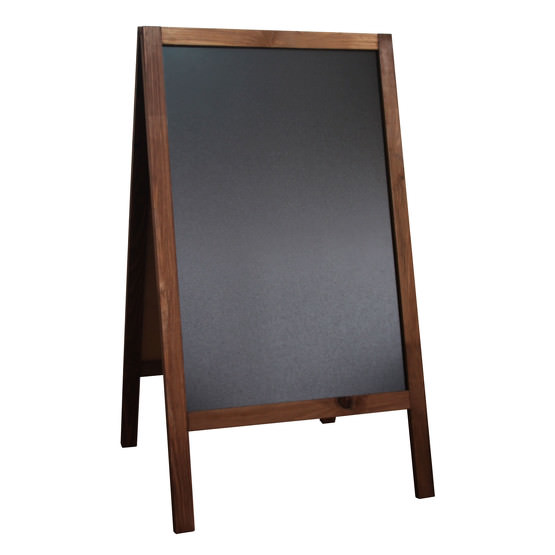 aufsteller kreidetafel kundenstopper holzaufsteller beidseitig holz. Black Bedroom Furniture Sets. Home Design Ideas