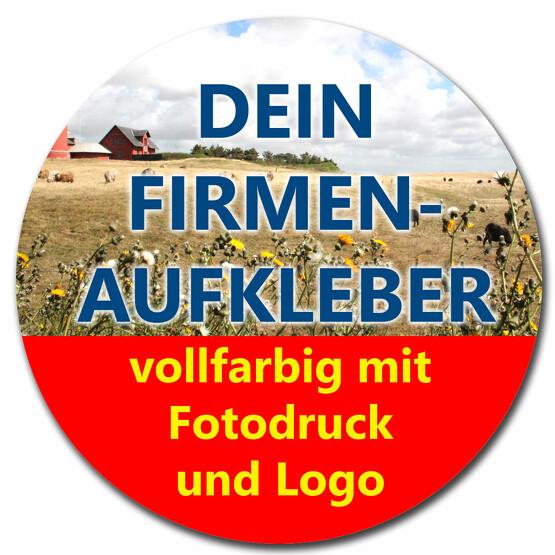 Aufkleber RUND Firmenaufkleber von Ihrer Datei mit Logo Firmenlogo