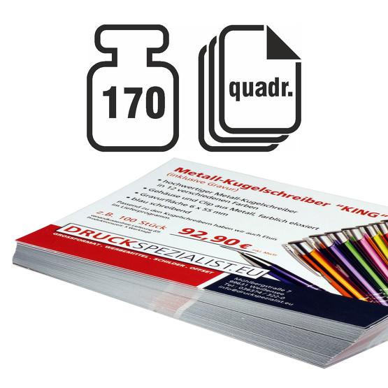 Flyer Quadrat 170g beidseitig 4/4 matt
