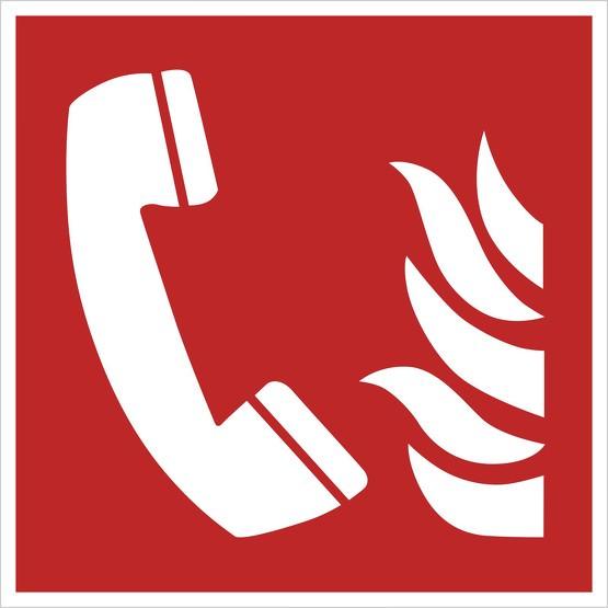 Aufkleber Brandmeldetelefon F006