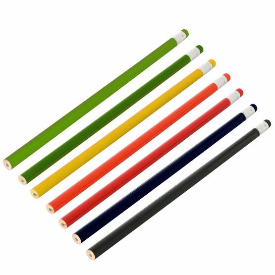 Bleistift MATHILDA mit Radiergummi farbig mit Druck Werbung