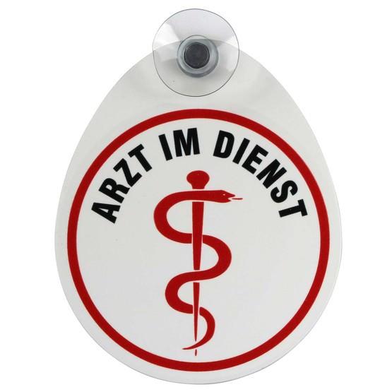 Schild Arzt im Dienst mit Saugnapf Saugnapfschild 1,1 mm GREEN
