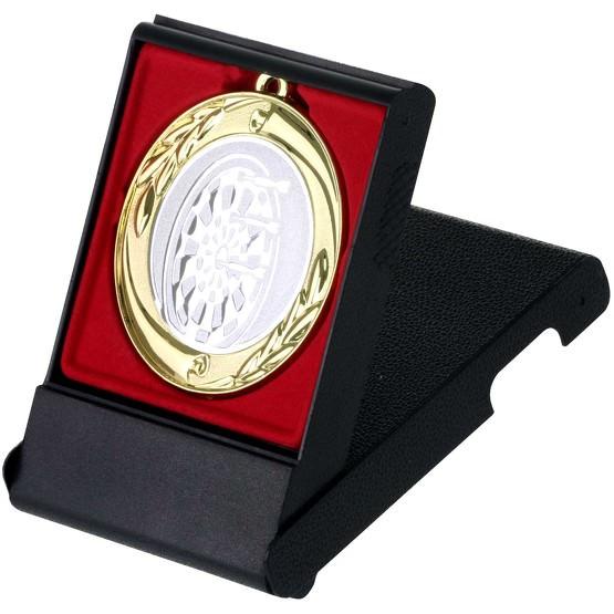 Dart Medaille gold silber bronze oder im Set 70mm mit Etui als Aufsteller