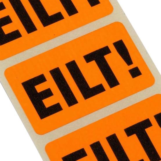 Etiketten EILT Haftpapier 38 x 23 mm leuchtend orange