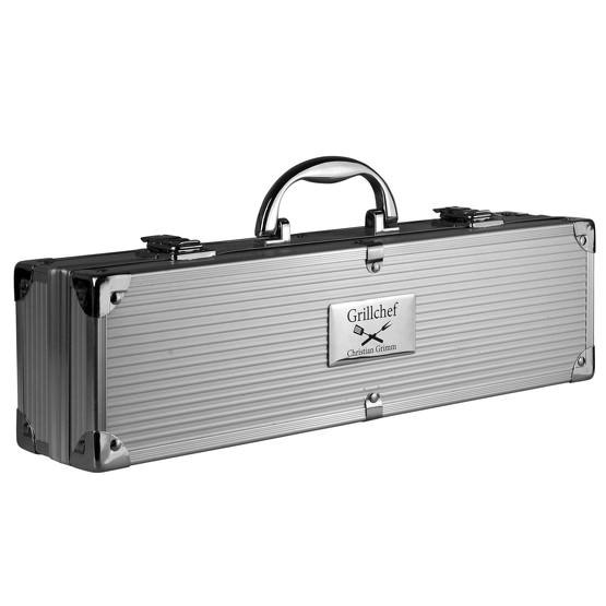 Grillkoffer BBQ Koffer Grillbesteck mit Gravur, 3 Koffergrößen lieferbar