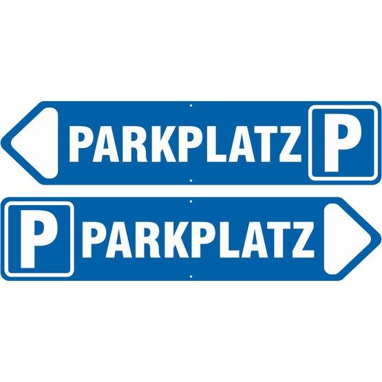 Pfeil Schild links rechts Parkplatz 3 mm Aluverbund 50x11 cm