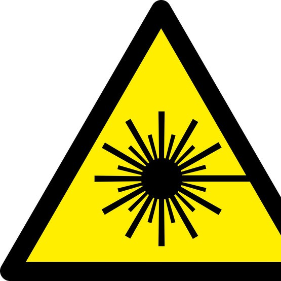 Schild Warnung vor Laserstrahl W004