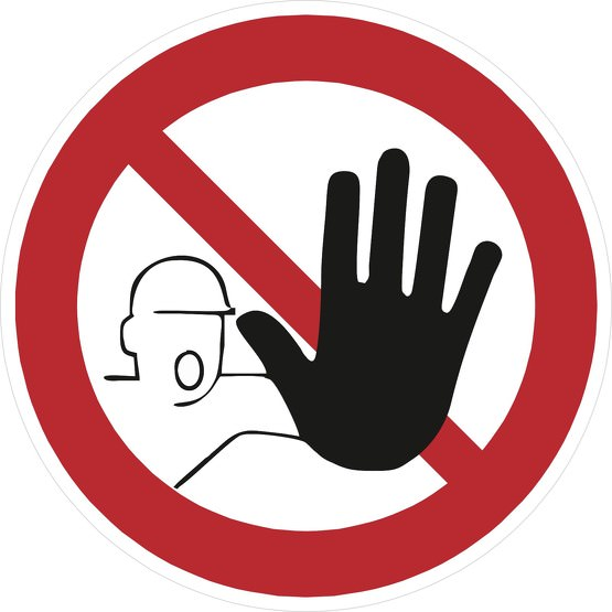Schild Zutritt für Unbefugte verboten D-P006