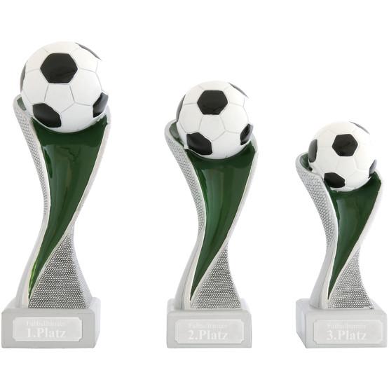 Fußball Ball Pokal Pokalset METZ mit Gravurplatte und Gravur