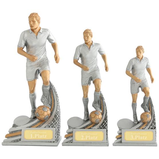 Fußball Spieler Pokal LUNEL Trophäe 3 Größen mit Gravur