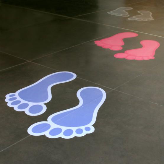 Fußbodenfolie rutschhemmend R9 kurzfristiger Einsatz ablösbar bedrucken
