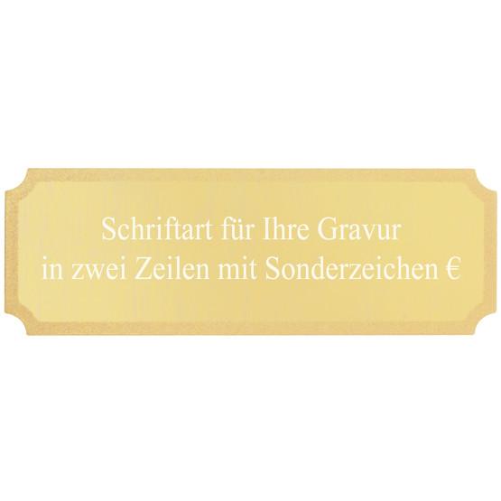 Gravurplatte Gravurschild für Pokale mit Wunschgravur gold
