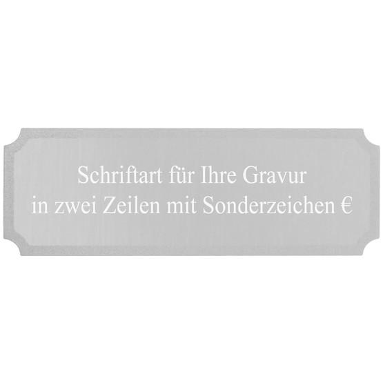 Gravurplatte Silber Gravurschild für Pokale mit Gravur nach Wunsch